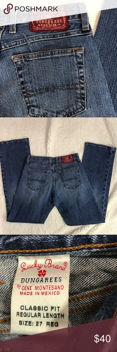 MAKe OFFER Lucky men's Classic Dungarees 27 jeans Good condition Lucky Brand Jeans Straight