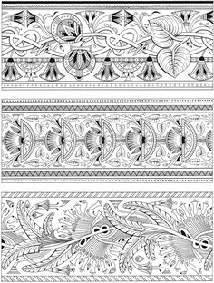 Creative Haven Art Deco Egyptian Designs Coloring Book | Dover Publications sample | #calm #StressManagement #AdultColouring #ColouringPage #colouring #egyptian #EgyptianDesigns #DoverPublications
