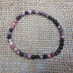 5mm Rhodonite Bead Bracelet - Stretch - Fast Free US Shipping #Unbranded #Beaded