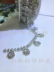Высококачественные украшения белого хрусталя буровое цепные клешни бурения коготь цепи цепи одежды алмазов аксессуары DIY аксессуары Зашейте