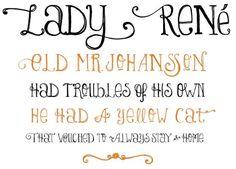 whimsical fonts.