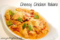 Cheesy chicken italiano, chicken, crockpot recipe
