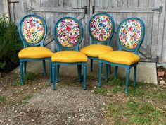Custom Chair Design by ChairWhimsy on Etsy Funky Furniture, Furniture Makeover, Painted Furniture, Mexican Furniture, French Dining Chairs, Vintage Chairs, Diy Chair, Chair Design, Sweet Home