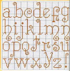♥ Mon point Graphiques Cruz ♥: Divers Alphabets in Cross Stitch