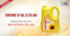 Get Online #Fortune SF #Oil 5 Ltr @ Discounted Price on Kiraanastore. Pay COD, Quick Home Delivery!!