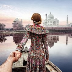 #followmeto the Taj Mahal with @yourleo. This is the second photo we did in Agra.  It was extremely difficult finding the spot to shoot this great landmark from the back as there is a big fence and police surrounding the area. Which photo do you like more this or the previous one? :). @followmetraveller #followmetraveller