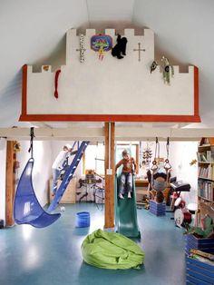 hochbett mit rutsche im jungenzimmer Loft, Bed, Furniture, Home Decor, Kids Shop, Playground, Projects, Bakken, Homes