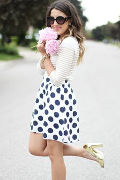 Subtle stripes and polka dot