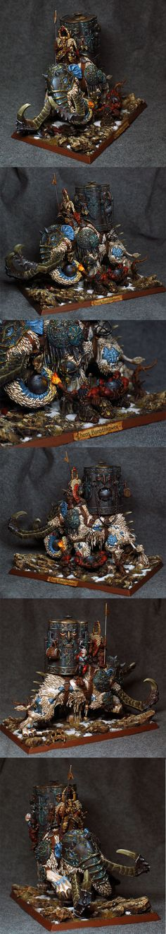 Chaos Mammoth Bomb Thrower : original mini and nice painting job.
