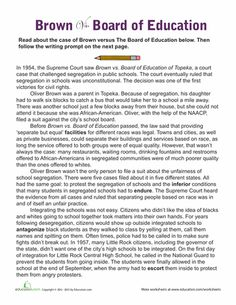 Worksheets: Brown vs. Board of Education