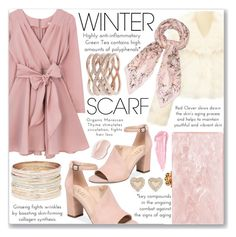 """""""Wrapper's Delight: Winter Scarf"""" by loveislikeasong ❤ liked on Polyvore featuring Franco Sarto, Edie Parker, Carbon & Hyde, Accessorize, By Terry, contestentry and nyfwstreetstyle"""