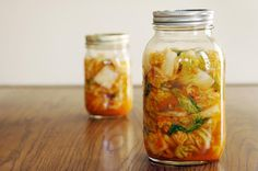 Kimchi: Probiotic, loaded with fiber and vitamins A, B, and C, and is linked to anti-obesity effects.  Healthy & easy way to make Kimchi at home!