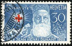 "Switzerland 1928 Scott dark blue & red ""J. Nobel Prize, Postage Stamps, Switzerland, Dark Blue, Tapestry, Graphics, History, Postage Stamp Design, Stamps"