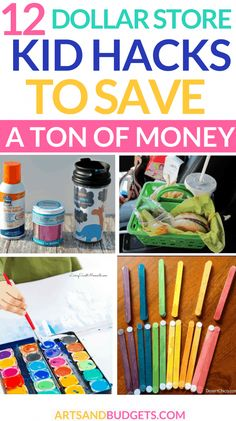 12 Dollar Store Hacks For Kids To Save Money - Arts and Budgets - Finance tips, saving money, budgeting planner 10 Dollar Store, Dollar Store Hacks, Dollar Store Crafts, Crafts For Teens To Make, Diy Crafts To Sell, Kids Diy, Kid Crafts, Sell Diy, Tree Crafts