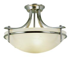 Bel Air Lighting 8172 BN 3-Light Semi Flush Mount - Semi Flush Mount Ceiling Light Fixtures - Amazon.com