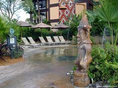 Disney Polynesian Resort splash area.