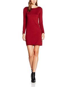 edc by ESPRIT Damen Kleid 076CC1E010, Rot (Bordeaux Red 600), 36 (Herstellergröße: S) 29€ SALE #mode #fashion #kleid #modern #günstig