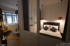 Agrandissement et rénovation complète d'un studio parisien pour location courte durée, Paris 09, Aurore Pannier - décorateur d'intérieur