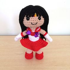 The beautiful soldier of fire and passion! This is the pattern for the amigurumi Sailor Mars pictured. Included is a pdf of the pattern (9 pages) and a technique reference for beginners.