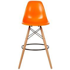 Descuento 10% hasta el 29 de abril: Replica taburete Eames DSW naranja polipropileno