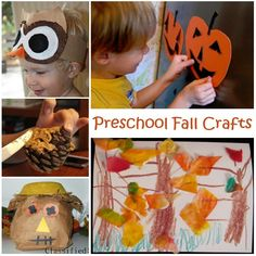 """Preschool Fall Crafts"" Just a bunch of simple crafts for fill-in activities that they can do the whole fall season, making our time a fun experience!"