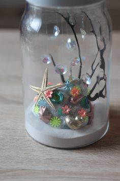 Mymy Cracra - Fond marin pailleté - Projet DIY #3 Snow Globes, Creations, My Style, Crafts, Inspiration, Home Decor, Frida Kahlo, Hearts, Blue Prints
