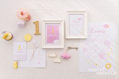 1. Geburtstag | Silvia Hihntermayer | candid moments fotografie  #ersterGeburtstag #Kindergeburtstag #birthday #firstbirthday #zuckerlrosa #zitronengelb #Wolke7 #Wölkchen #Wolken #yellow #rose #blush Candid, In This Moment, Frame, Decor, Pink, 1 Year Birthday, Lemon Yellow, New Babies, Mariage