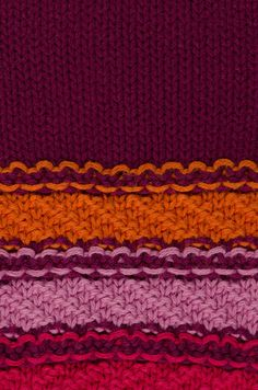 Stock image of 'Close up macro background texture of striped knitted texture'
