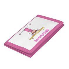 Girls Gymnastics Trifold Wallets