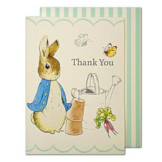 Party Ark's 'Peter Rabbit & Friends Thank You Cards'