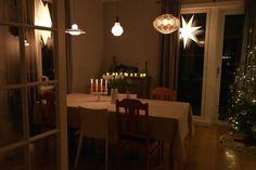 Matsal i julskrud