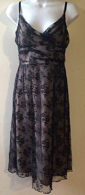 H & M Nude Black Lace Dress Size 8
