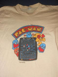 1981 Pac Man t shirt   xl atari video game  original vintage