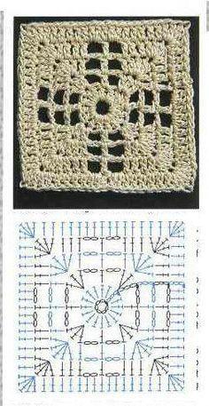 Transcendent Crochet a Solid Granny Square Ideas. Inconceivable Crochet a Solid Granny Square Ideas. Crochet Motif Patterns, Crochet Symbols, Granny Square Crochet Pattern, Crochet Blocks, Crochet Diagram, Crochet Chart, Crochet Squares, Crochet Granny, Granny Squares