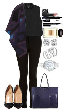 """""""Untitled #1248"""" by fabianarveloc on Polyvore featuring Topshop, Tory Burch, Monki, Burberry, Christian Louboutin, NARS Cosmetics, Lancôme, Marc Jacobs, Vince Camuto and Lane Bryant"""
