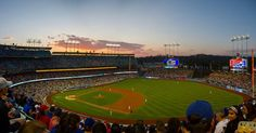 THINK BLUE: Sunsets in Chavez Ravine #dodgers #dodgerstadium #baseball #itfdb #sunset #angels #losangeles #mylastory by emilriley