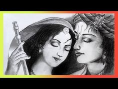 How to draw Krishna Radha pencil sketch for All (Banglar Art) 3d Art Drawing, Pencil Sketch Drawing, Pencil Art Drawings, Pencil Shading, Pencil Drawings For Beginners, Easy Drawings Sketches, Chicano Drawings, Black Art Painting, Indian Art Paintings