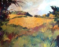 """English Field"" - Original Fine Art for Sale - © Libby Anderson"