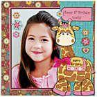 Fun scrapbook page using Gina the Giraffe wobbler!
