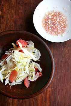 wintry salad of shaved fennel, endive and grapefruit