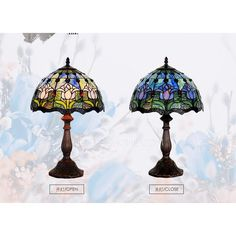 vintage tulip tiffany lamp e26e27 stained glass shade