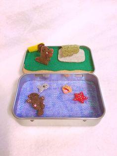 Felt otter Animal in a tin https://www.etsy.com/listing/290199455/itty-bitty-maties-miniature-felt-otters