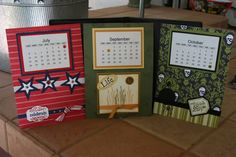 DVD Calendar by TexanStamper - Cards and Paper Crafts at Splitcoaststampers has every month tucked inside a decorative dvd case!