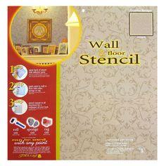 Victorian Baroque Wall & Floor Stencil