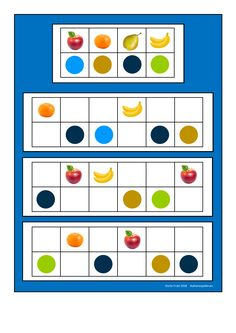 Board1 for the fruit visual perception game. Find the belonging tiles on Autismespektrum on Pinterest. By Autismespektrum