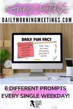Are you a teacher who needs to settle your students at the start of the day or a lesson? a consistent and fun morning routine in your classroom? a way to encourage your students to have meaningful conversations or writing prompts? an effective morning check in to connect with your students and attend to their social emotional needs? Then these daily morning meetings are all you need! Every weekday, a new prompt will appear for you to use in your classroom. There are 6 different themes each day! High School Classroom, Classroom Ideas, Google Classroom, Teacher Resources, Teaching Ideas, Daily Fun Facts, Daily Jokes, Morning Meetings, Secondary Teacher