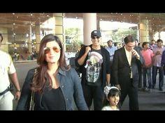 Akshay Kumar & Twinkle Khanna with their daughter Nitara spotted at Mumbai airport. Akshay Kumar And Twinkle, Twinkle Khanna, Mumbai Airport, Gossip, Interview, Daughter, Music, Youtube, Muziek