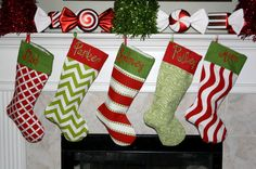 Cute Christmas stocking with a modern feel.