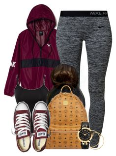 """""""Untitled #517"""" by b-elkstone ❤ liked on Polyvore featuring Victoria's Secret PINK, French Connection, NIKE, MCM, Converse, H&M, Versace and plus size clothing"""