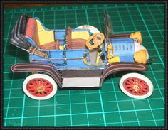 Ford Model T 1908 Free Vehicle Paper Model Download - http://www.papercraftsquare.com/ford-model-t-1908-free-vehicle-paper-model-download.html